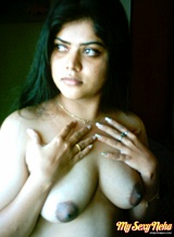 Neha pics 07. Neha in exciting black Indian shalwar suit stripping
