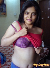 Neha pics 09. Neha in her bedroom showing her juicy natural tits